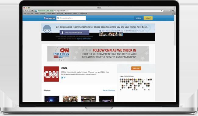 Página Foursquare da CNN