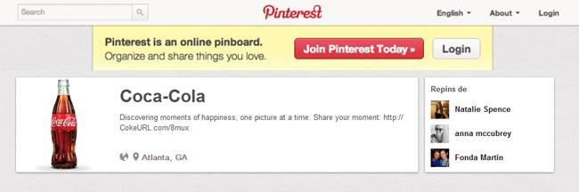 Perfil/Página empresarial no Pinterest