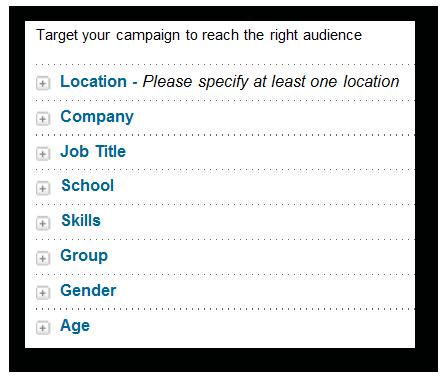 segmentar campanha linkedin