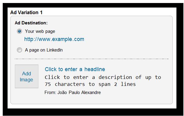 ad variation anuncio linkedin