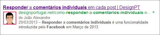 Imagem google authorship