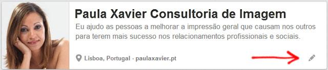 Imagem de perfil Pinterest de Paula Xavier