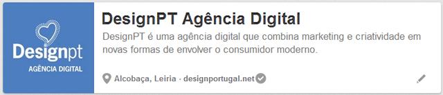 página Pinterest da DesignPT