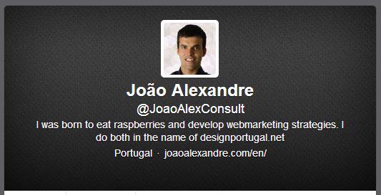 twitter de João Alexandre