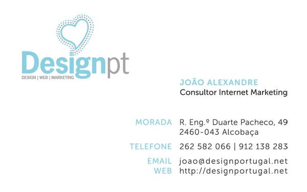 Frente do cartão de contacto de João Alexandre - cartão simples
