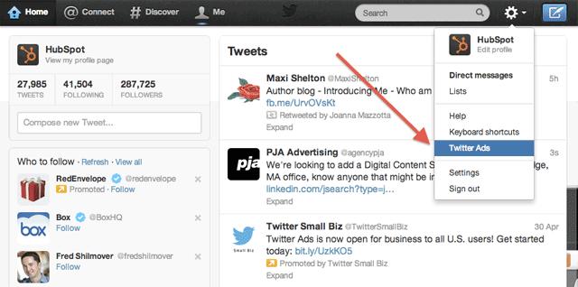 Twitter Ads na configuração