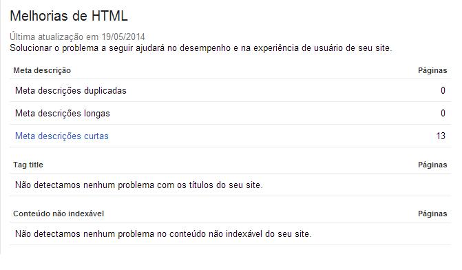 Melhorias html