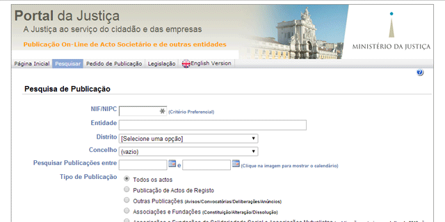 Pesquisa Portal da Justiça
