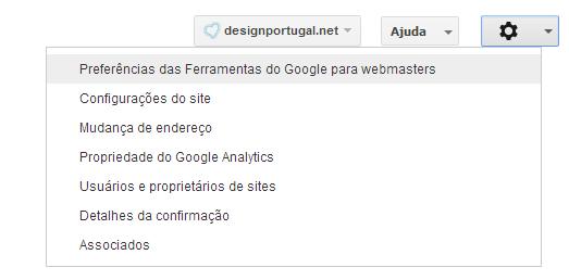 definições google webmaster tools
