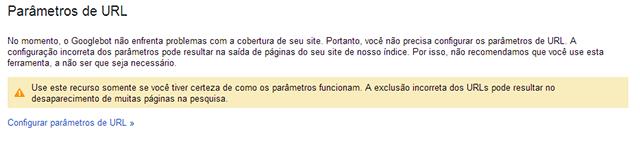 Parâmetros URL