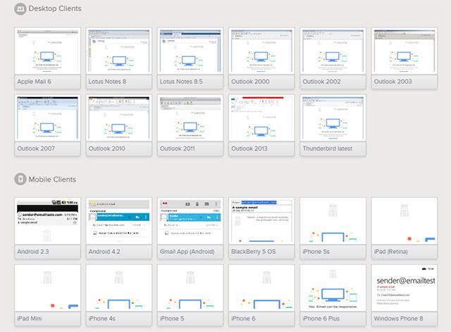 Litmus permite ver como um email é exibido em browsers, clientes de eamil e sistemas operativos