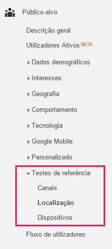 Testes de referência e Localização do Google Benchmarking