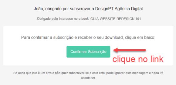 confirmar email websiteredesign101 580x281 - Guia Website Redesign 101 download