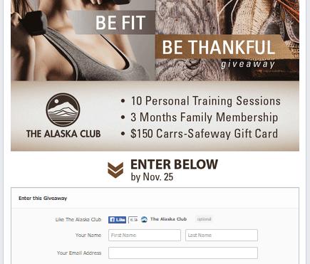 Giveaway personal training