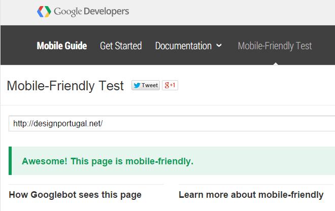 Teste mobile-friendly