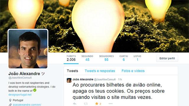Perfil twitter João Alexandre