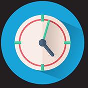 Relógio com pontas digitais