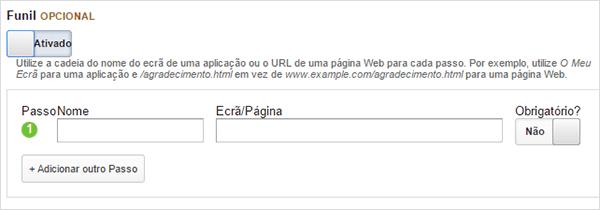 Funil no Google Analytics
