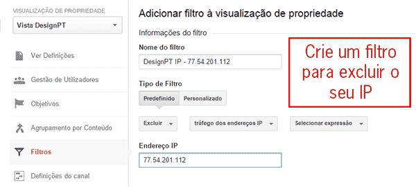 Filtro de exclusão de IP