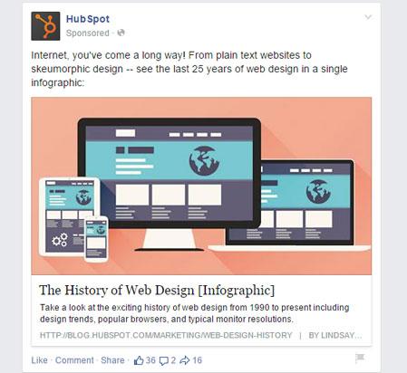 Hubspot facebook post promovido