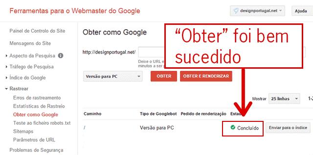Rastreamento dum endereço pela Google