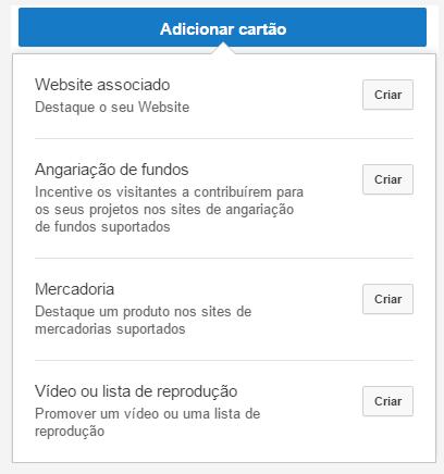 Adicionar cartão Youtube