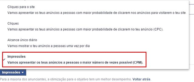 CPM otimizado no Facebook