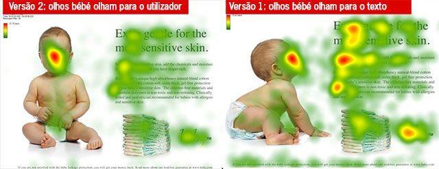 Eye tracking com foto de bébé