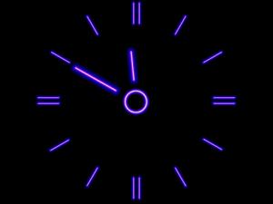 Relógio com pontas
