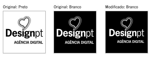 Logotipo original e versãobranca