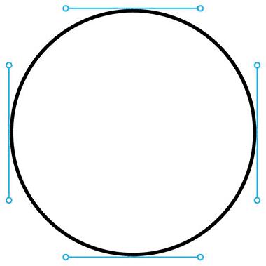 Círculo vetorial com vetores
