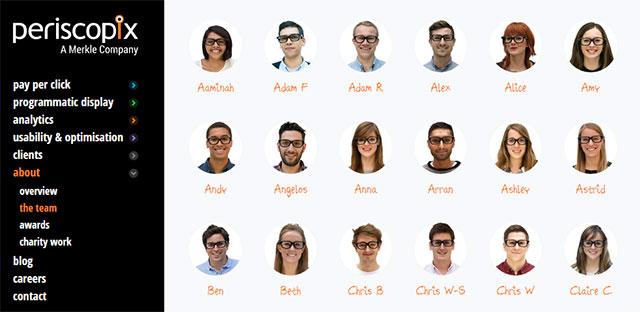 Página de equipa Periscopix