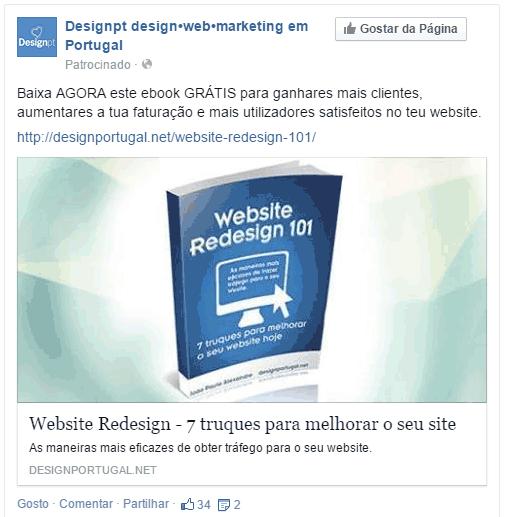interacao publicacao pagina anuncio facebook