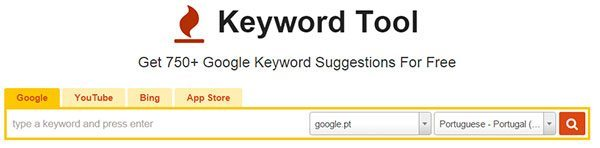 Planeador palavras chave Keywordtool.io