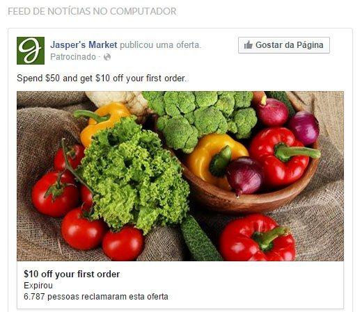 Reclamar oferta Facebook
