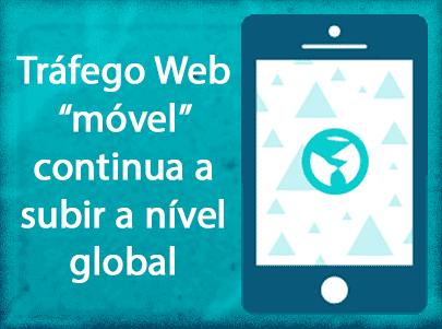 Tráfego web movel a subir