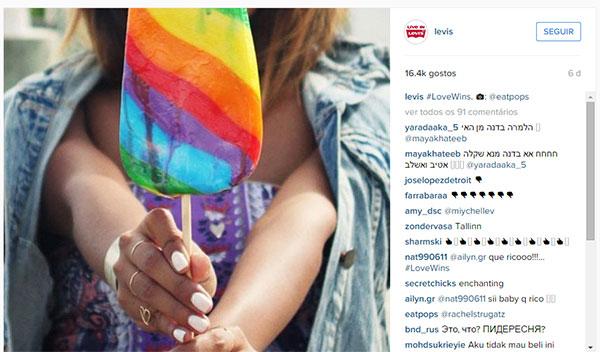 Publicação Instagram Levis