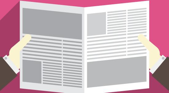 Jornal aberto (vector)