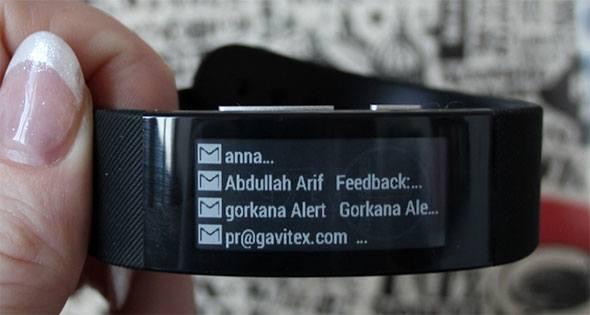 Contactos de email no smartwatch