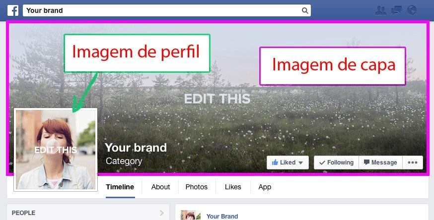 Imagem de perfil e imagem de capa