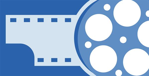 Rolo filme azul