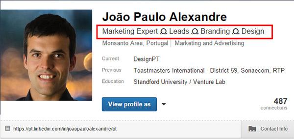 Perfil LinkedIn Joao Alexandre