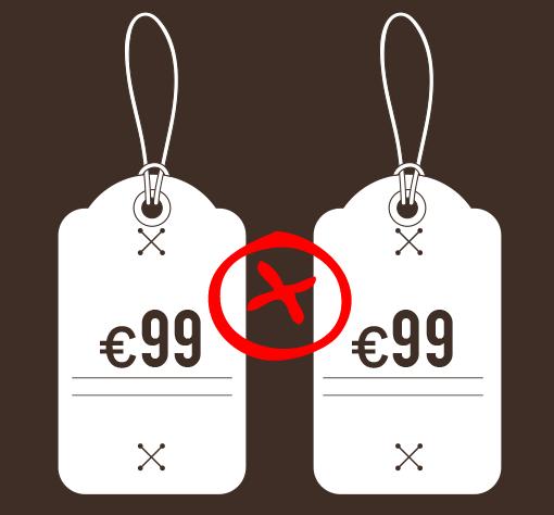 4 Evite preços iguais