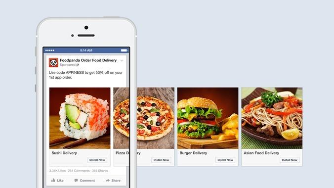 Anúncios carrossel facebook