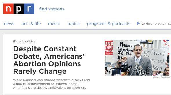 homepage da NPR