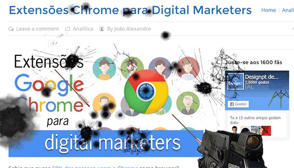 Website Destroyer, extensão do Google Chrome