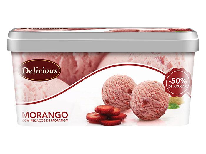 Gelado Delicious Morango