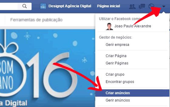 Criar anúncio Facebook