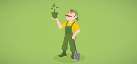 Imagine que tem uma empresa de jardinagem