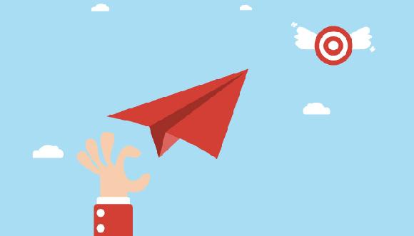 ilustração avião de papel